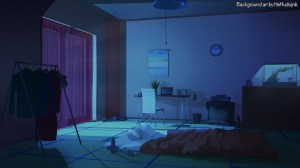 night novel visual anime bedroom artstation ruokavalikko