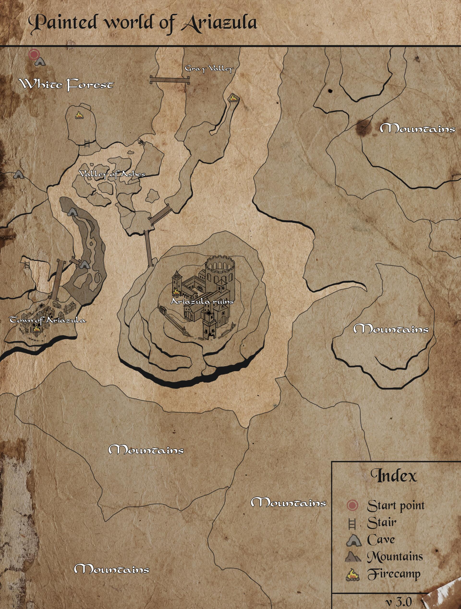 Dark Souls 2 World Map : souls, world, ArtStation, Painted, World, Ariazula, Darksouls, (College, Project, Anhembi, Morumbi),, Sousa