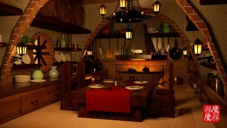 ArtStation Medieval Kitchen 3D Model Arbenn Espinoza