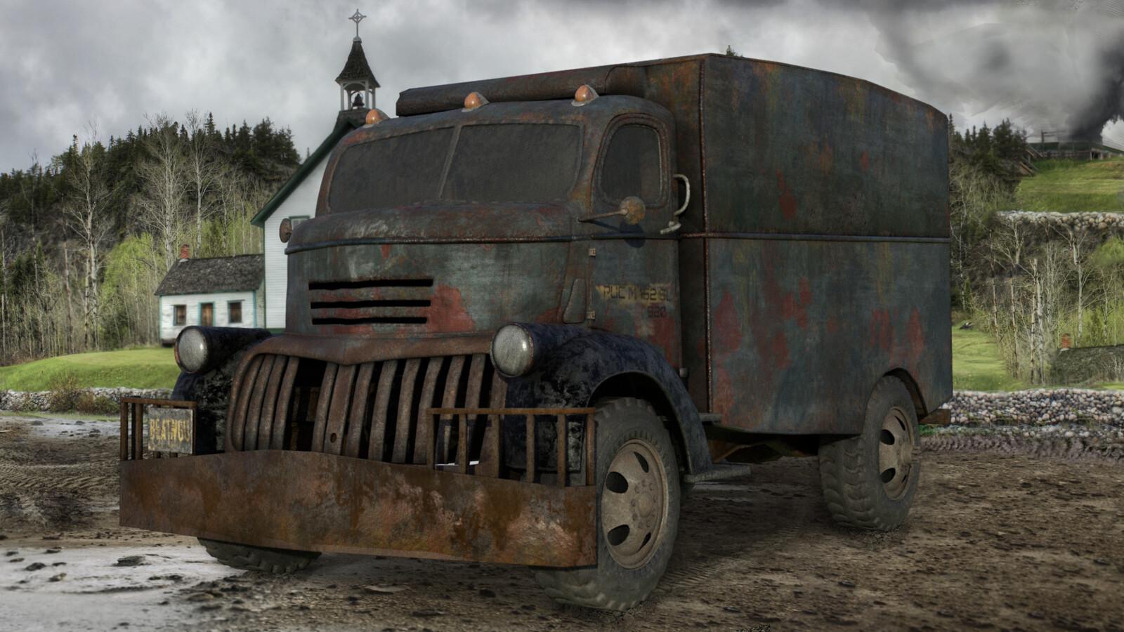 Carl's got to go home. Artstation Creeper S Truck Alex Ruas