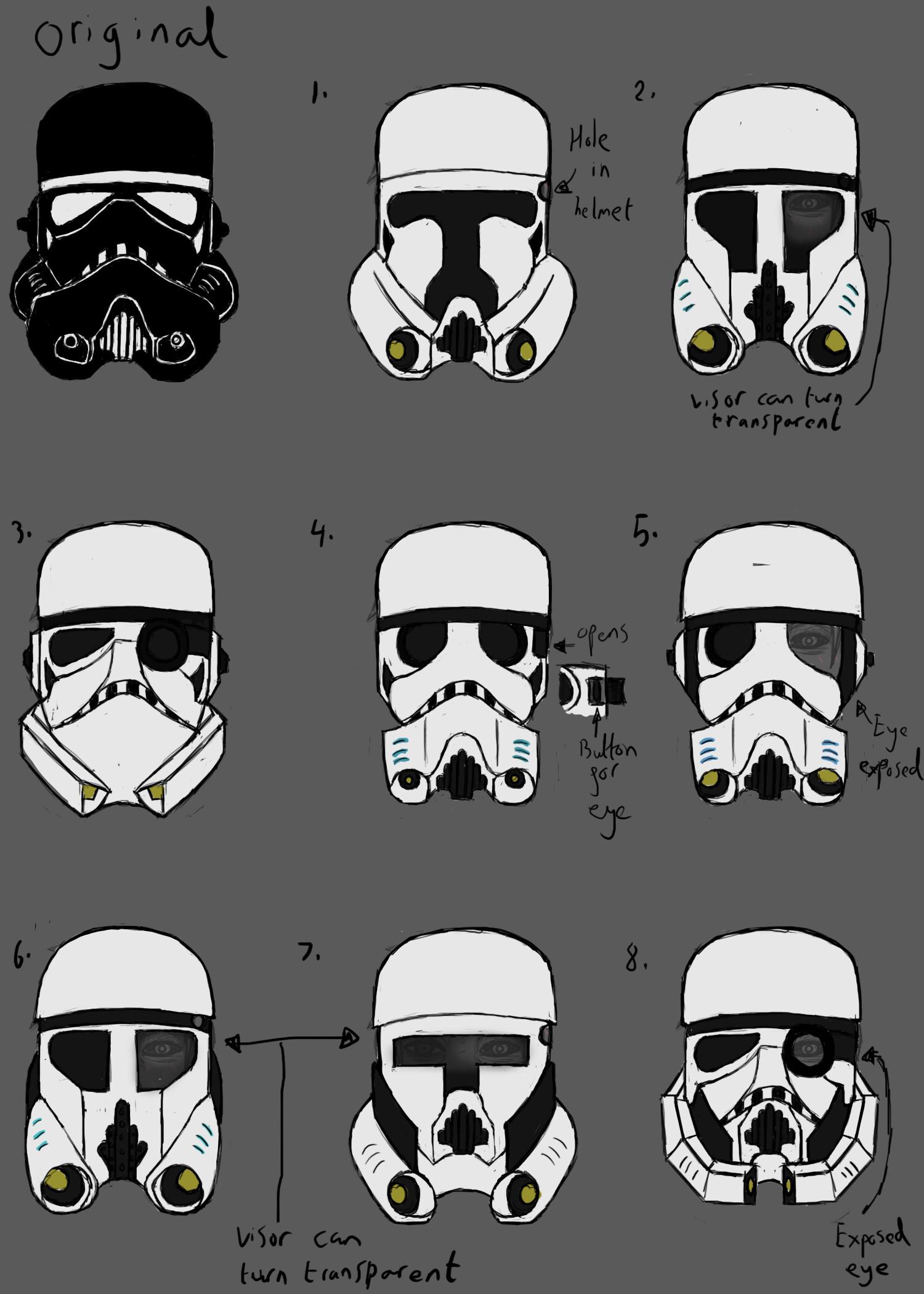 Stormtrooper Helmet Silhouette : stormtrooper, helmet, silhouette, ArtStation, Operational, Design, Stormtrooper, Prop,, Aimee, Aston