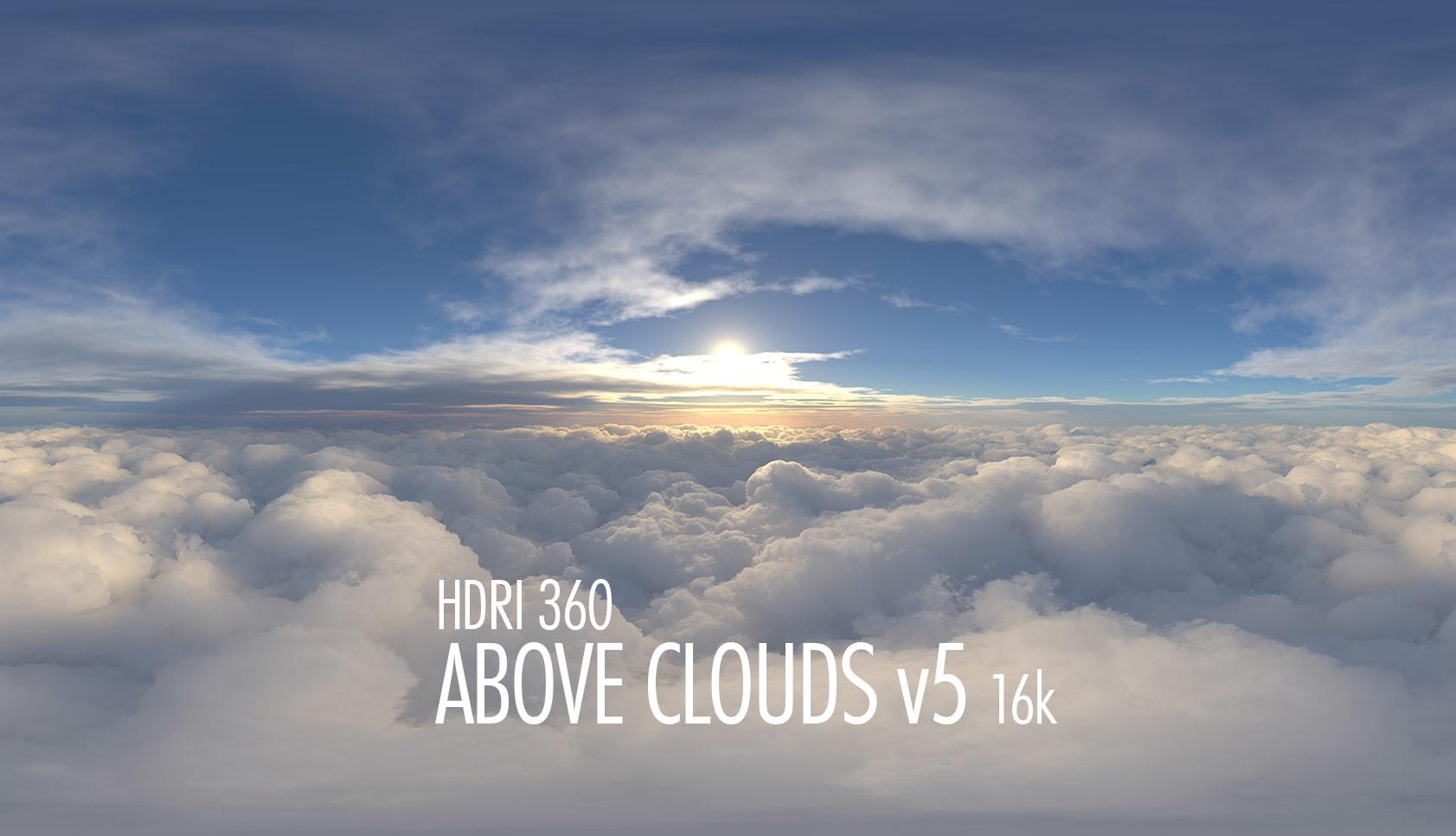 hdri 360 above clouds