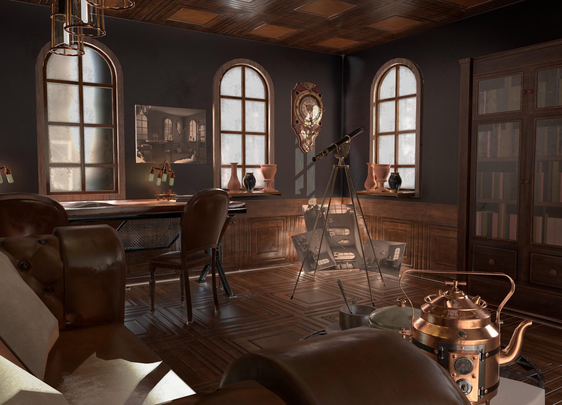 Steampunk Interior Home Design Ideas