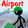 Stickman Kill in the Airport Game icon