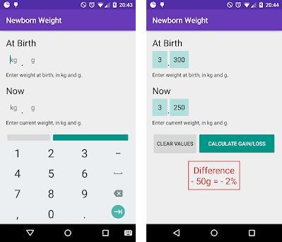 Newborn Baby Weight Loss Weight Gain Calculator 13 Apk Download