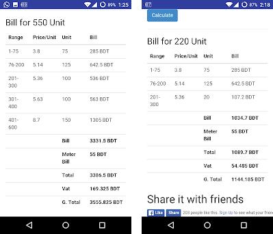 electricity bill calculator bd 1 0 apk download for android bill