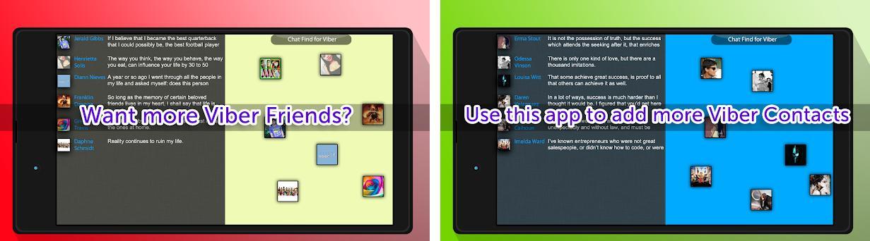 Chat Find for Viber Capturas de pantalla