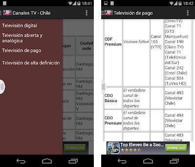 Televisiones de Chile - Lista on Windows PC Download Free
