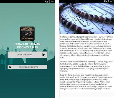 Surah Ar Rahman Indonesia MP3 on Windows PC Download Free