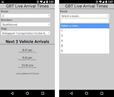 Bridgeport GBT Bus Tracker 1 0 6 apk download for Android