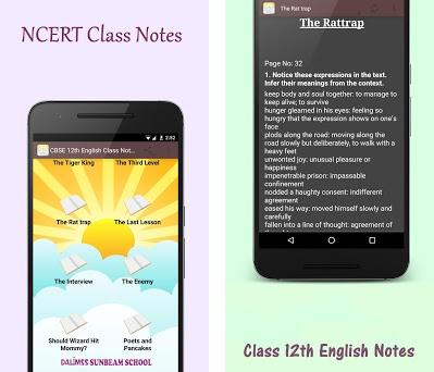 CBSE 12th English Class Notes 1 0 apk download for Android