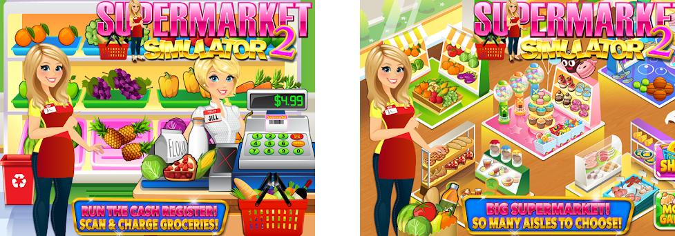 Supermarket Grocery Store Girl - Supermarket Games preview screenshot