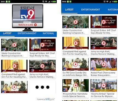 TV9 Kannada 3 2v apk download for Android • com apps tv9live