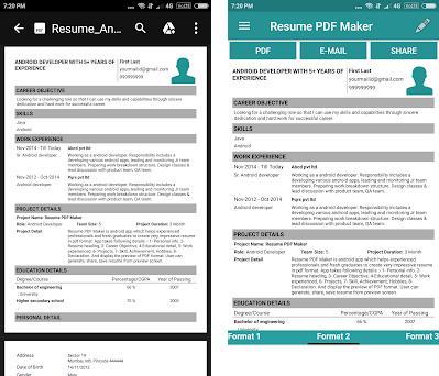 Resume Pdf Maker Cv Builder 1 9 Apk Download For Android Com