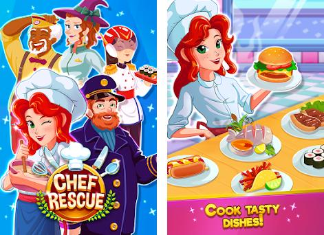 Chef Rescue - Cooking & Restaurant Management Game preview screenshot
