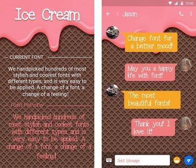 Ice Cream Font for FlipFont , Cool Fonts Text Free 37 0 apk