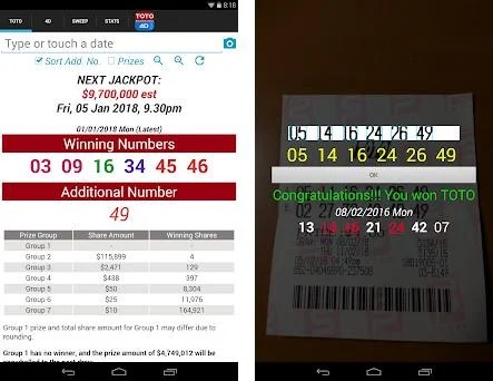 SG TOTO 4D SWEEP 4 9 apk download for Android • com nctam