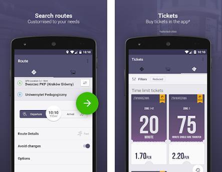 Jakdojade: public transport preview screenshot