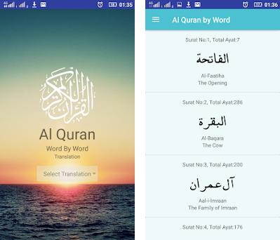 Word To Word Translation Of Quran