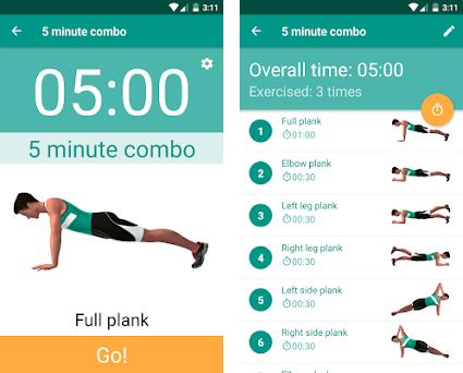 Plank Timer Preview Screens