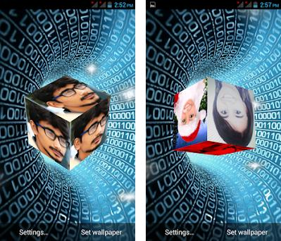 3d Cube Live Wallpaper Photo Cubepic Effects 33 Apk Download For
