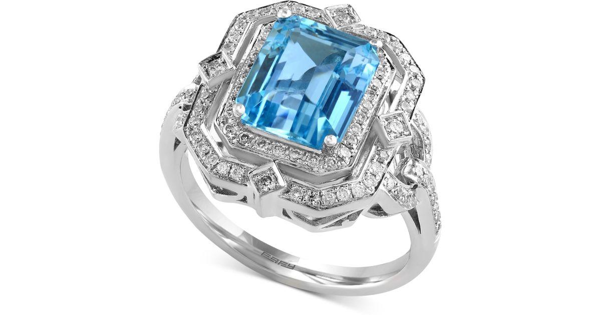 Effy Collection Ocean Bleu By Effy Aquamarine 2 25 Ct T