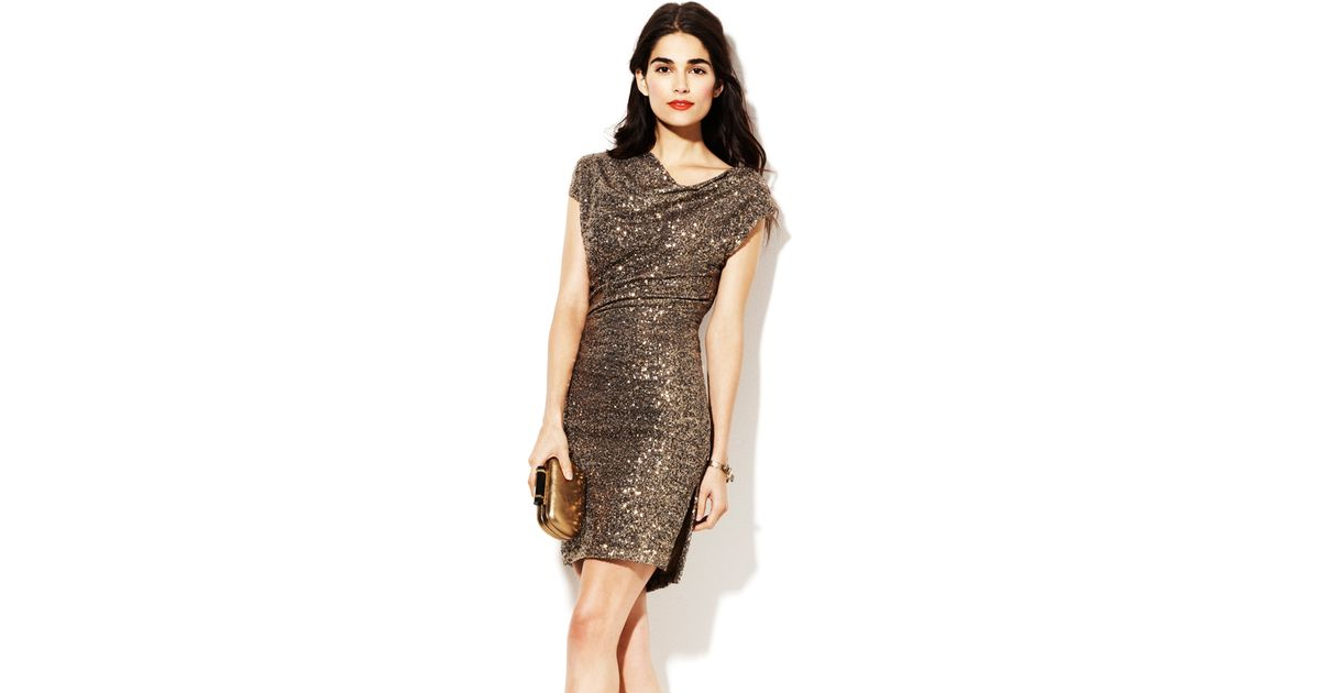 vince camuto metallic fitted