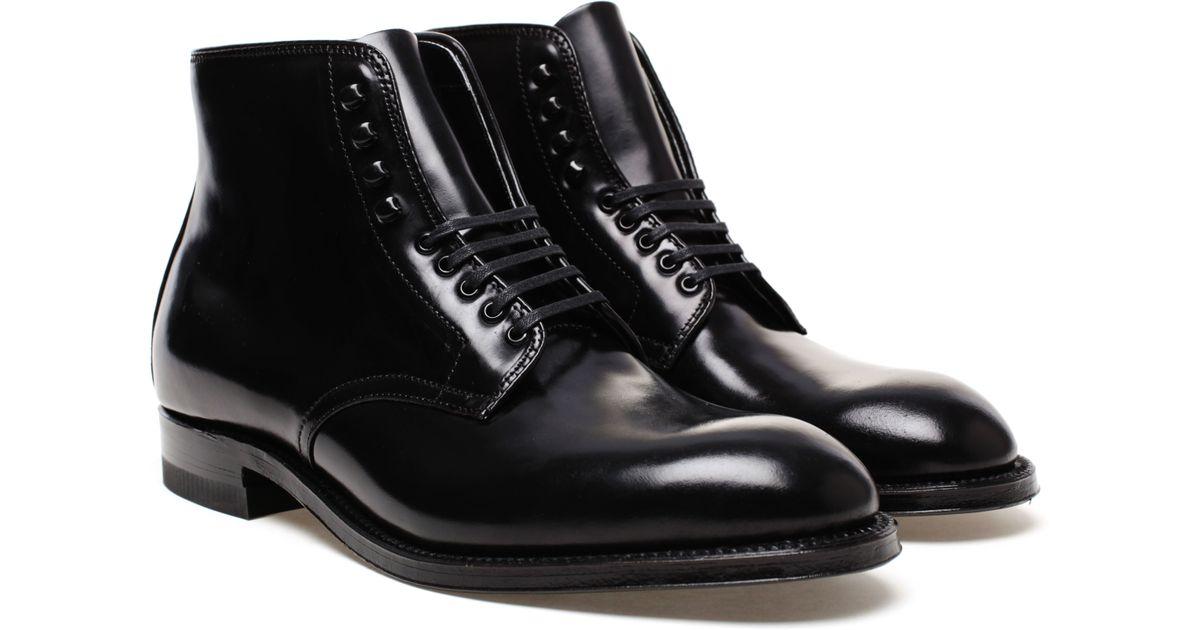 alden black leather lace
