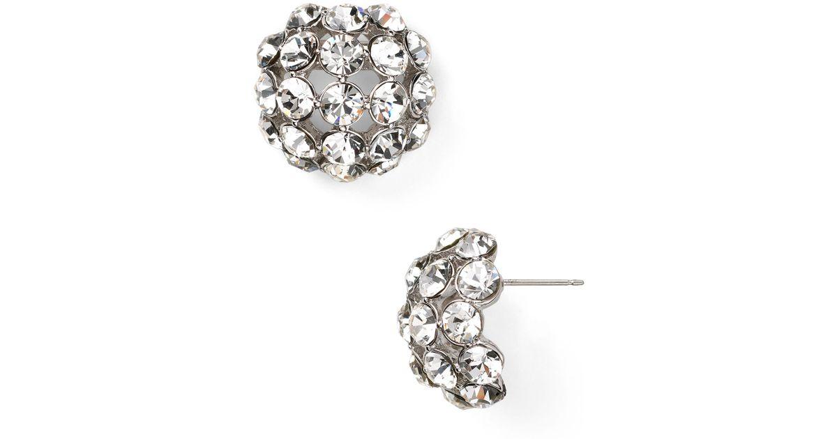 Kate Spade Lady Marmalade Large Stud Earrings in Metallic
