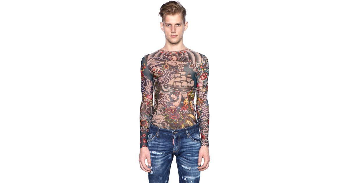 Sale Men Sleeve Shirts Tattoo Long