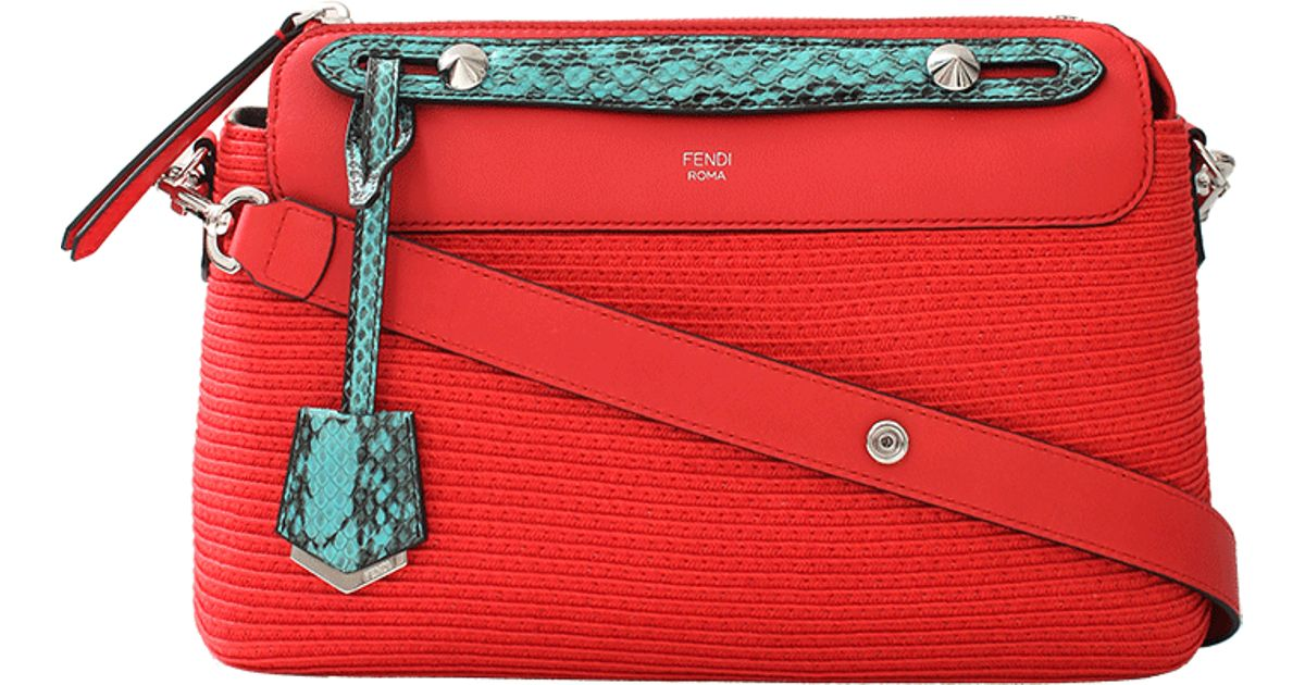 Fendi By The Way Boston Small Bag in Coral (Pink) - Lyst