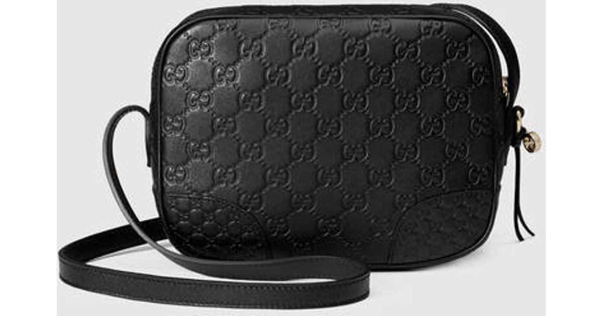 d8184dd1f55 Lyst Gucci Bree Ssima Mini Messenger Bag In Black
