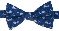 Lyst - Tommy Hilfiger Whale Print Pre-tied Bow Tie in Blue ...