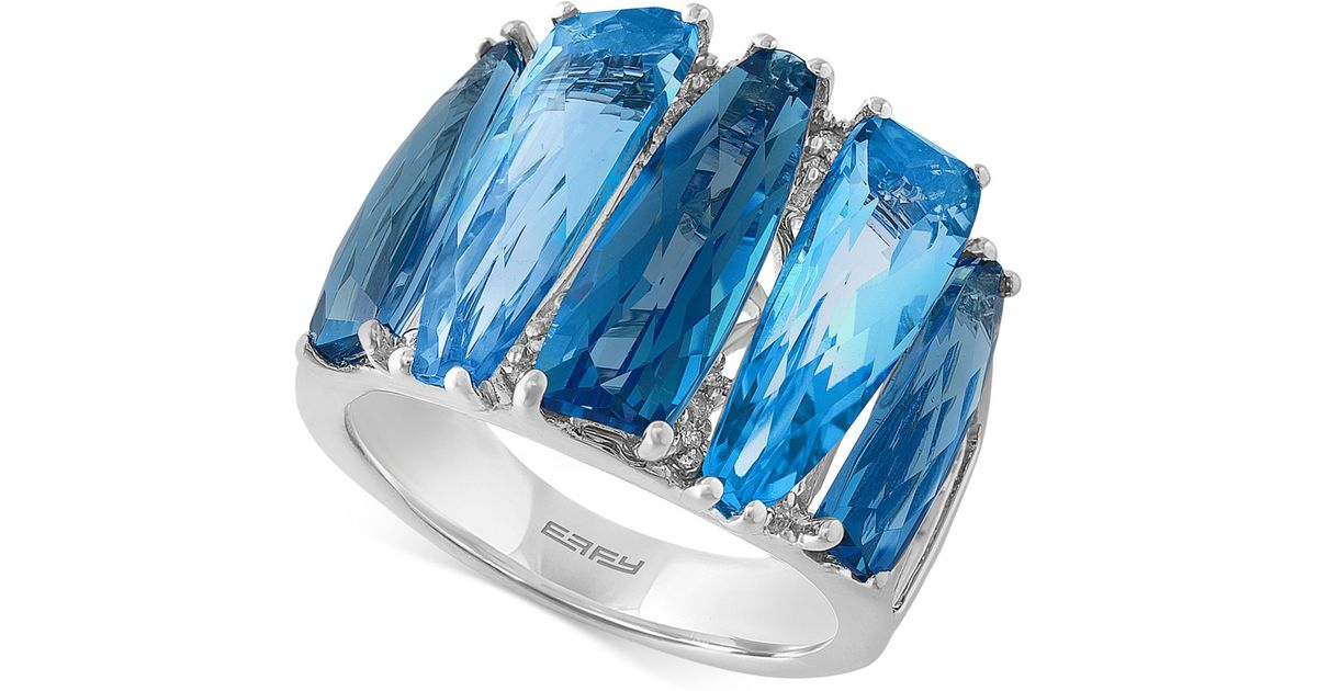 Effy Collection Effy Blue Topaz 8 78 Ct Tw And