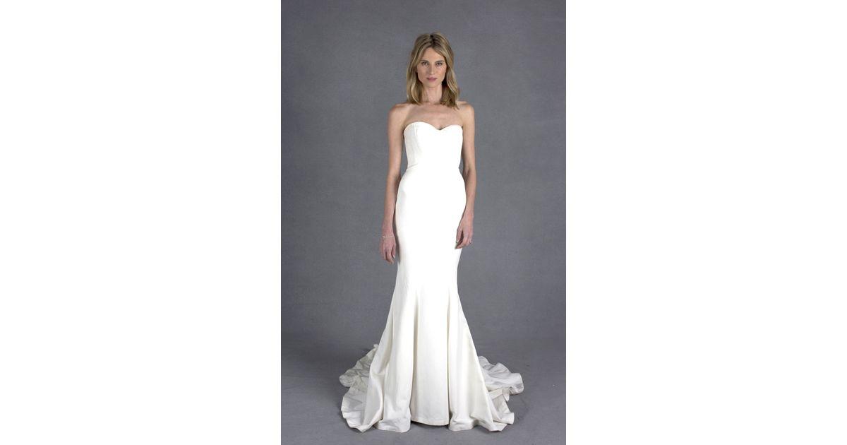 Nicole Miller Dakota Bridal Gown In White