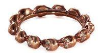 Lyst - Delfina Delettrez Diamond 18k Rose Gold Skull Ring ...