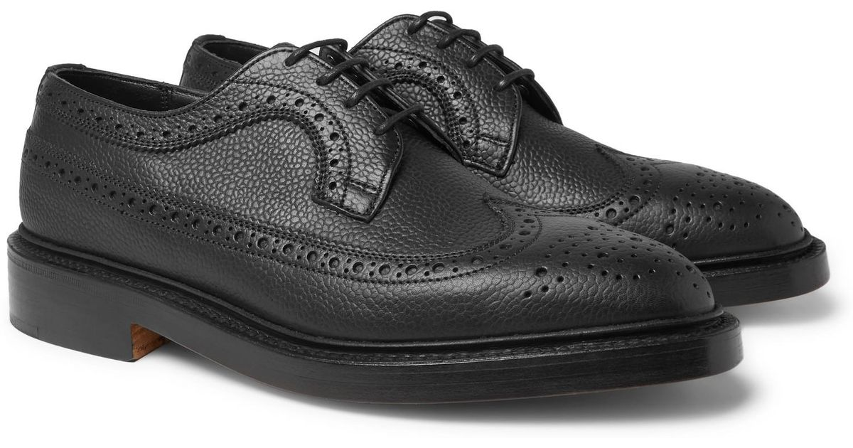 Lyst - Tricker'S Richard Pebble-grain Leather Longwing Brogues in Black for Men