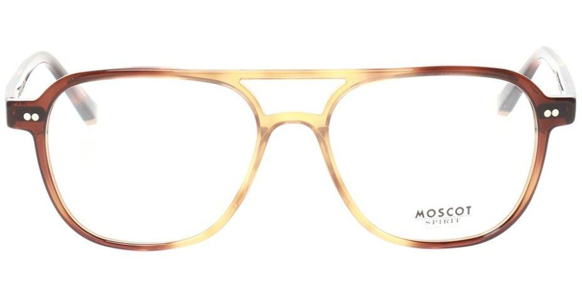 Moscot 'bjorn' Eyeglasses With Logo in Brown for Men - Lyst