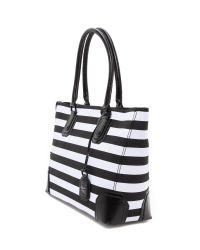 Alice + Olivia Alice Olivia D Tote Bag in Black/White (Black) - Lyst