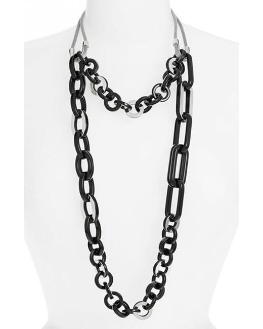 Lafayette 148 new york Two Strand Long Chain Link Necklace