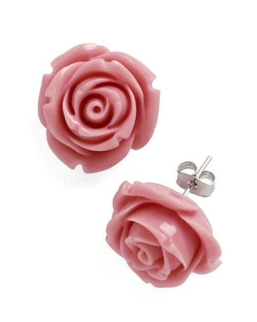 Ana accessories inc Retro Rosie Earrings In Dusty Rose in