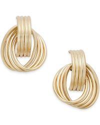 Macy's Twirled Door Knocker Earrings In 14k Gold in Gold ...