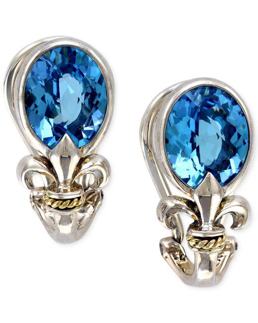Effy collection Balissima By Effy Blue Topaz Fleur De Lis