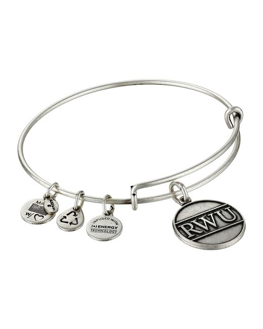 Alex and ani Roger Williams University Logo in Silver