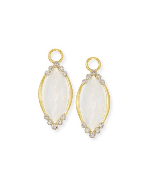 Jude frances Provence Marquis Earring Charms With Diamonds