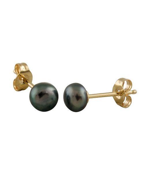 Splendid Small Button 3mm Stud Earring in Black