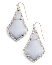 Kendra scott 'alex' Drop Earrings - Rhodium/ Slate Cats ...