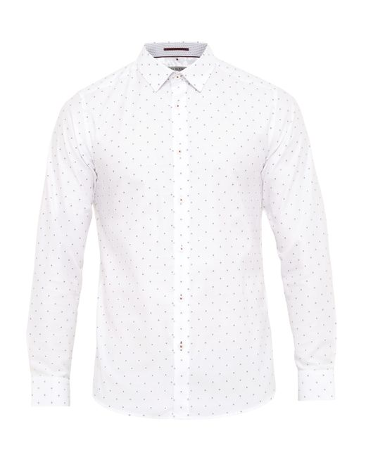 Ted baker Thatjam Fil Coupe Cotton Shirt in White for Men