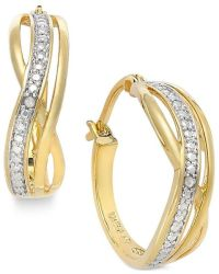 Macy's Victoria Townsend Diamond Accent Curved Hoop ...