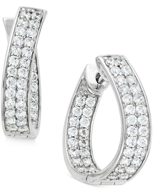Macy's Diamond In-and-out Hoop Earrings (1-1/2 Ct. T.w
